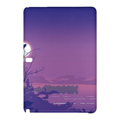 Abstract Tropical Birds Purple Sunset  Samsung Galaxy Tab Pro 12 2 Hardshell Case by WaltCurleeArt
