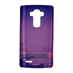 Abstract Tropical Birds Purple Sunset  Lg G4 Hardshell Case by WaltCurleeArt