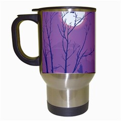 Abstract Tropical Birds Purple Sunset Travel Mugs (white) by WaltCurleeArt