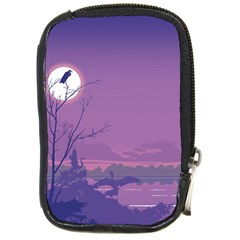 Abstract Tropical Birds Purple Sunset Compact Camera Cases by WaltCurleeArt