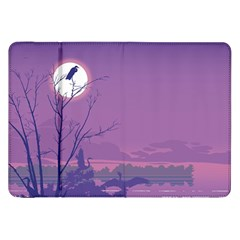 Abstract Tropical Birds Purple Sunset Samsung Galaxy Tab 8 9  P7300 Flip Case by WaltCurleeArt