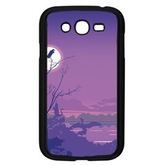 Abstract Tropical Birds Purple Sunset Samsung Galaxy Grand Duos I9082 Case (black) by WaltCurleeArt