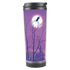 Abstract Tropical Birds Purple Sunset Travel Tumbler by WaltCurleeArt