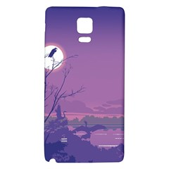 Abstract Tropical Birds Purple Sunset Galaxy Note 4 Back Case by WaltCurleeArt