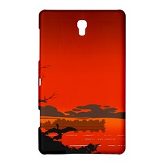 Tropical Birds Orange Sunset Landscape Samsung Galaxy Tab S (8 4 ) Hardshell Case  by WaltCurleeArt