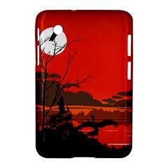 Tropical Birds Orange Sunset Landscape Samsung Galaxy Tab 2 (7 ) P3100 Hardshell Case  by WaltCurleeArt