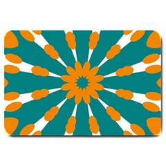 Tangerinerina Teliana Large Doormat  by CircusValleyMall