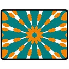 Tangerinerina Teliana Fleece Blanket (large)  by CircusValleyMall