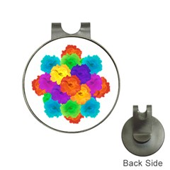 Flowes Collage Ornament Hat Clips with Golf Markers by dflcprints