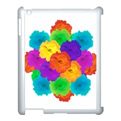 Flowes Collage Ornament Apple Ipad 3/4 Case (white) by dflcprints