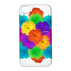 Flowes Collage Ornament Apple Iphone 4/4s Hardshell Case With Stand by dflcprints