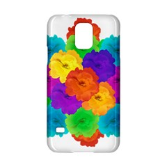 Flowes Collage Ornament Samsung Galaxy S5 Hardshell Case  by dflcprints