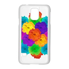 Flowes Collage Ornament Samsung Galaxy S5 Case (white) by dflcprints