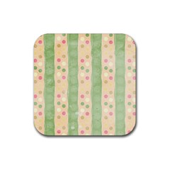Seamless Colorful Dotted Pattern Rubber Coaster (Square)  by TastefulDesigns
