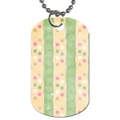 Seamless Colorful Dotted Pattern Dog Tag (one Side) by TastefulDesigns