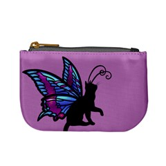 Kitty Wings Coin Change Purse by Ellador