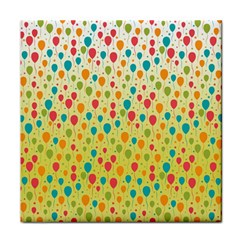 Colorful Balloons Backlground Tile Coasters by TastefulDesigns