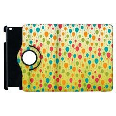 Colorful Balloons Backlground Apple iPad 2 Flip 360 Case by TastefulDesigns