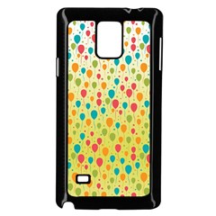 Colorful Balloons Backlground Samsung Galaxy Note 4 Case (Black) by TastefulDesigns
