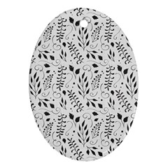 Hand Painted Floral Pattern Ornament (oval)  by TastefulDesigns