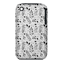 Hand Painted Floral Pattern Apple iPhone 3G/3GS Hardshell Case (PC+Silicone) by TastefulDesigns