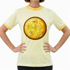 White Chocolate Chip Lemon Cookie Novelty Women s Fitted Ringer T Shirts by WaltCurleeArt