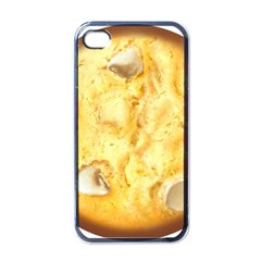 White Chocolate Chip Lemon Cookie Novelty Apple Iphone 4 Case (black) by WaltCurleeArt