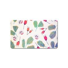 Hand Drawn Flowers Background Magnet (Name Card) by TastefulDesigns