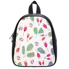 Hand Drawn Flowers Background School Bags (small)  by TastefulDesigns