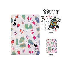 Hand Drawn Flowers Background Playing Cards 54 (mini)  by TastefulDesigns