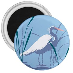 Egret 3  Magnets by WaltCurleeArt