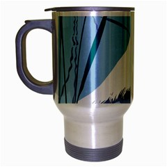 Egret Travel Mug (silver Gray) by WaltCurleeArt