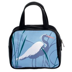 Egret Classic Handbags (2 Sides) by WaltCurleeArt