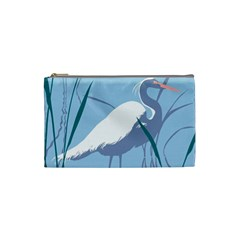 Egret Cosmetic Bag (small)  by WaltCurleeArt