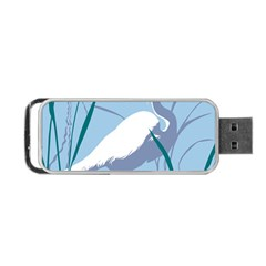 Egret Portable Usb Flash (two Sides) by WaltCurleeArt