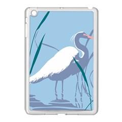 Egret Apple Ipad Mini Case (white) by WaltCurleeArt