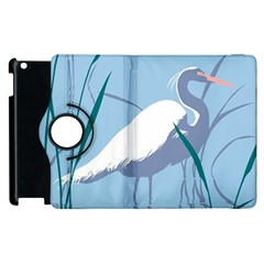 Egret Apple Ipad 3/4 Flip 360 Case by WaltCurleeArt