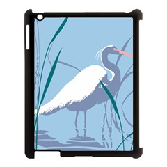 Egret Apple Ipad 3/4 Case (black) by WaltCurleeArt
