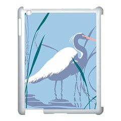 Egret Apple Ipad 3/4 Case (white) by WaltCurleeArt