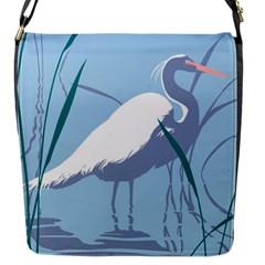 Egret Flap Messenger Bag (s) by WaltCurleeArt
