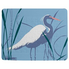 Egret Jigsaw Puzzle Photo Stand (rectangular) by WaltCurleeArt