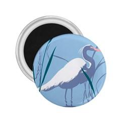 Egret 2 25  Magnets by WaltCurleeArt