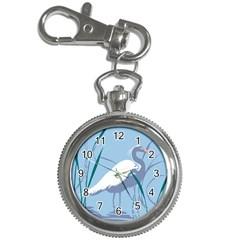 Egret Key Chain Watches by WaltCurleeArt