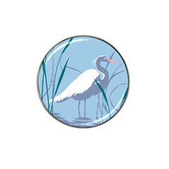 Egret Hat Clip Ball Marker (10 Pack) by WaltCurleeArt