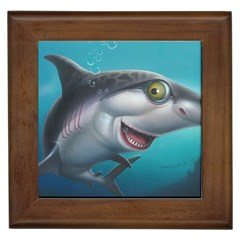 Sharky Framed Tiles by WaltCurleeArt