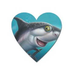 Sharky Heart Magnet by WaltCurleeArt