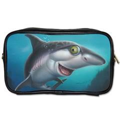 Sharky Toiletries Bags 2 Side by WaltCurleeArt