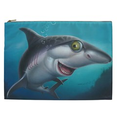 Sharky Cosmetic Bag (xxl)  by WaltCurleeArt