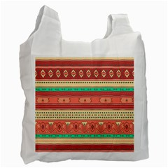 Hand Drawn Ethnic Shapes Pattern Recycle Bag (two Side)  by TastefulDesigns