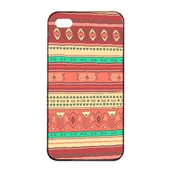 Hand Drawn Ethnic Shapes Pattern Apple Iphone 4/4s Seamless Case (black) by TastefulDesigns